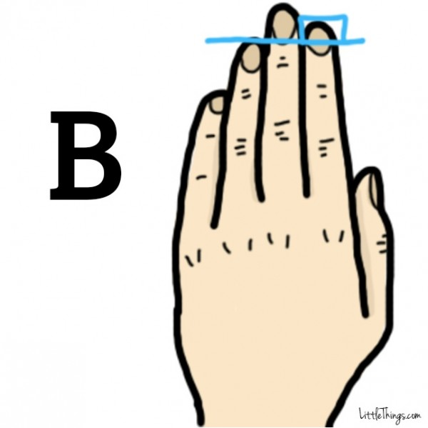"""Hand """"B"""" means you"""